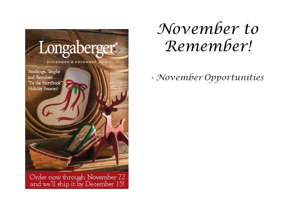 - November Opportunities