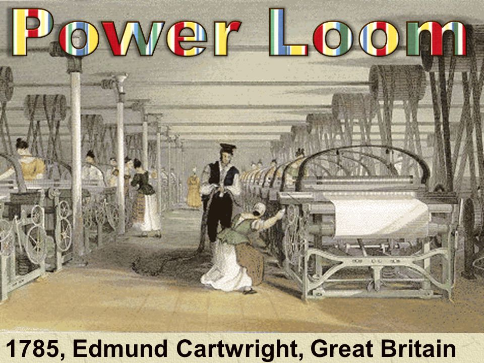 1779 Samuel Crompton (GB) Combined Waterframe + Spinning Jenny Made thread even faster Who is 