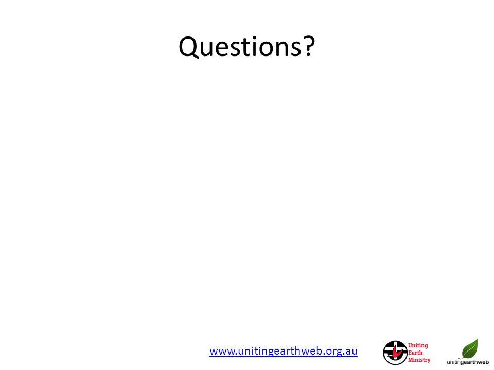 Questions www.unitingearthweb.org.au