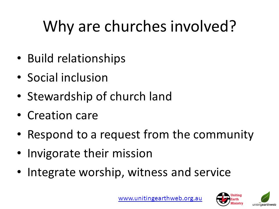 Why are churches involved.