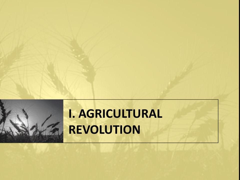 I. AGRICULTURAL REVOLUTION
