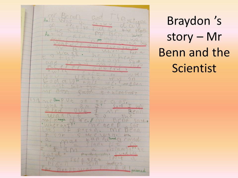Braydon 's story – Mr Benn and the Scientist