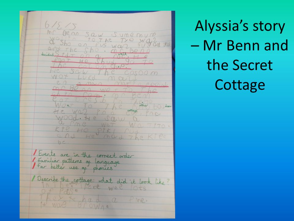 Alyssia's story – Mr Benn and the Secret Cottage