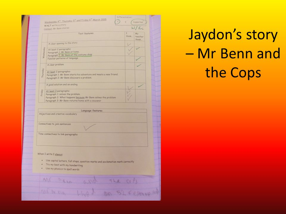 Jaydon's story – Mr Benn and the Cops