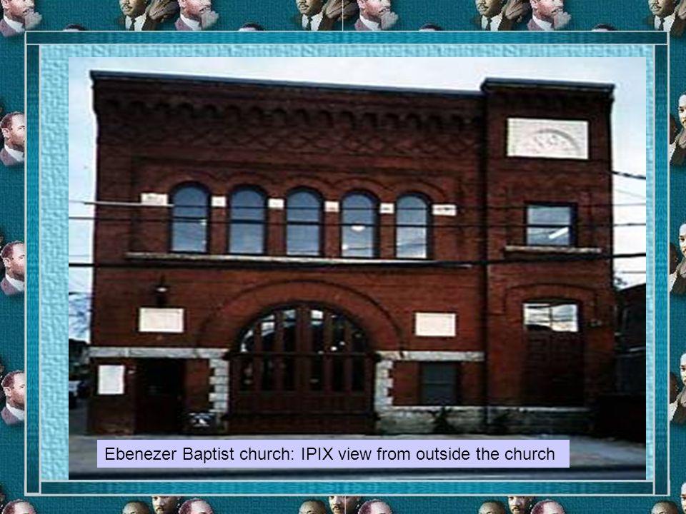 Ebenezer Baptist church: IPIX view from outside the church