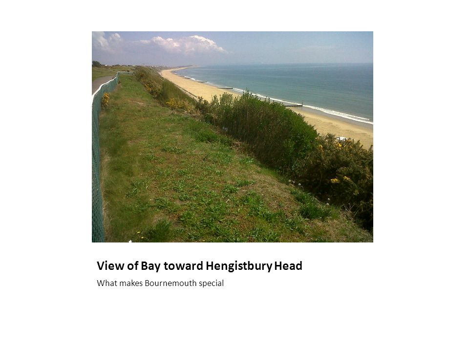 View of Bay toward Hengistbury Head What makes Bournemouth special
