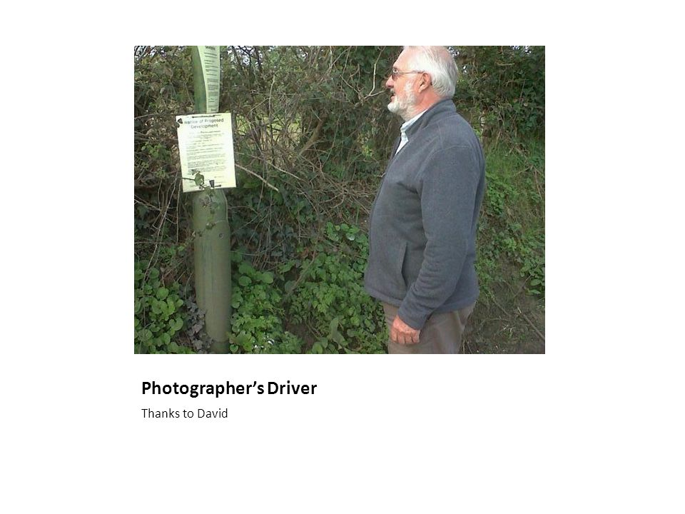 Photographer's Driver Thanks to David