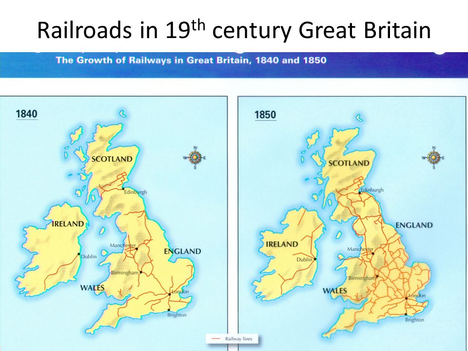 Railroads in 19 th century Great Britain