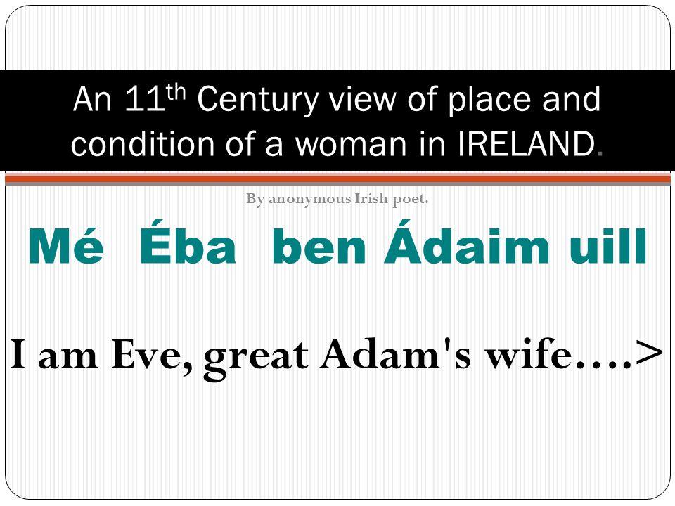 Mn á na h É ireann PART 2 S urvival & C elebration In 19 th Century Irish Art & Poetry & Song