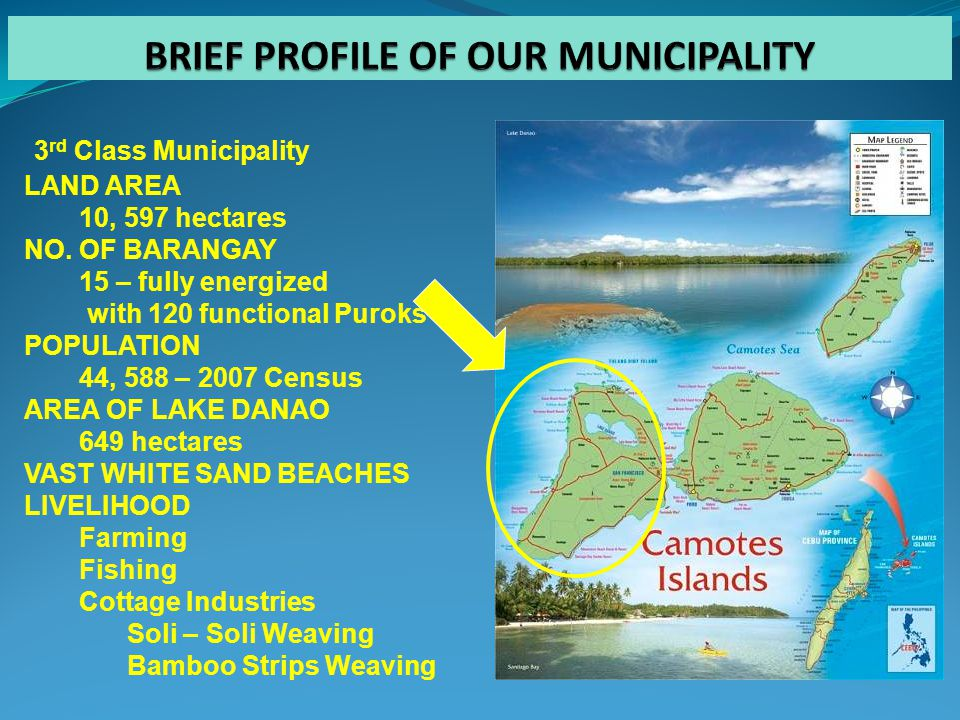 3 rd Class Municipality LAND AREA 10, 597 hectares NO.