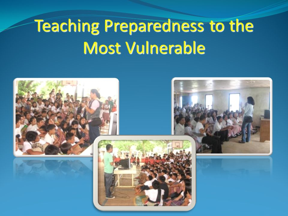 Teaching Preparedness to the Most Vulnerable