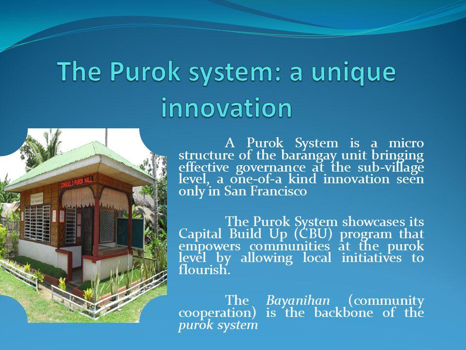 built by the Purokhanons through the CBU program.