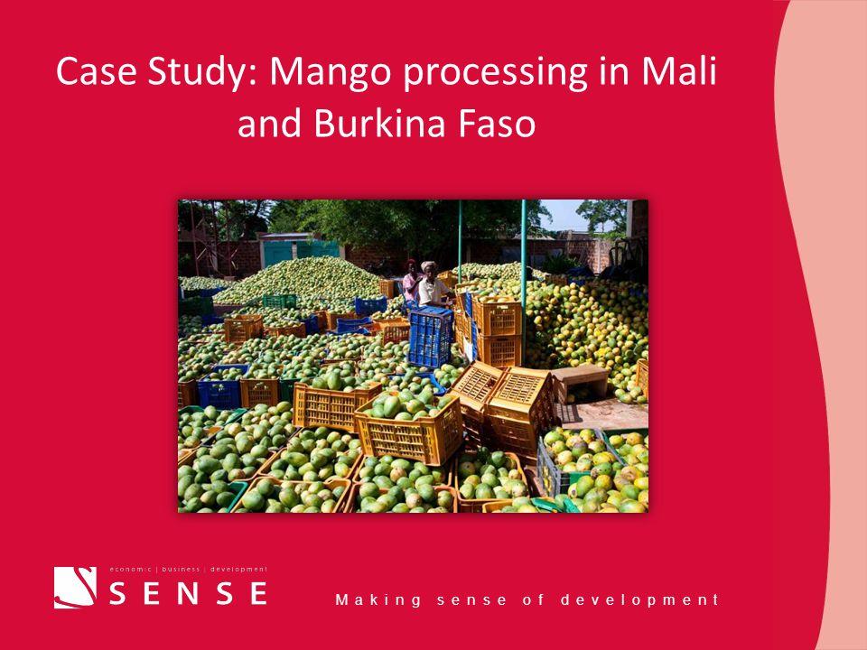 Making sense of development Case Study: Mango processing in Mali and Burkina Faso