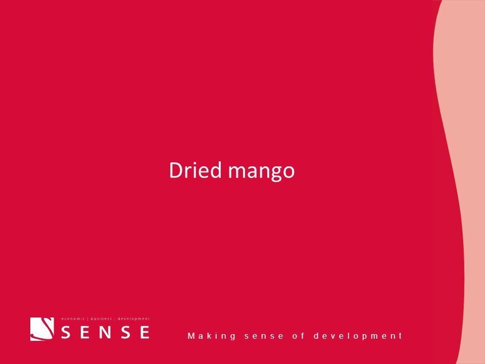 Making sense of development Dried mango