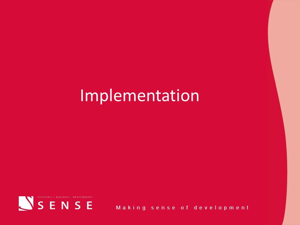 Making sense of development Implementation