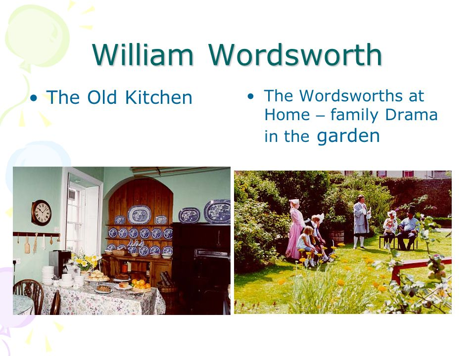 William Wordsworth The Old Kitchen The Wordsworths at Home – family Drama in the garden