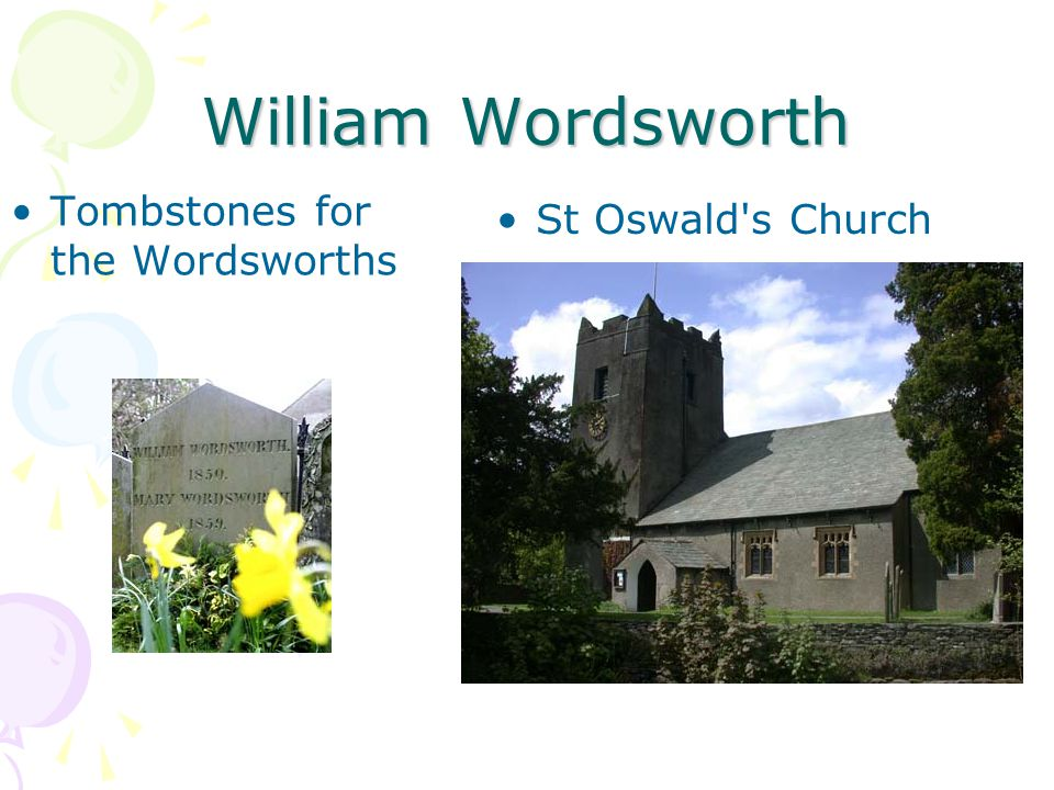William Wordsworth Tombstones for the Wordsworths St Oswald s Church