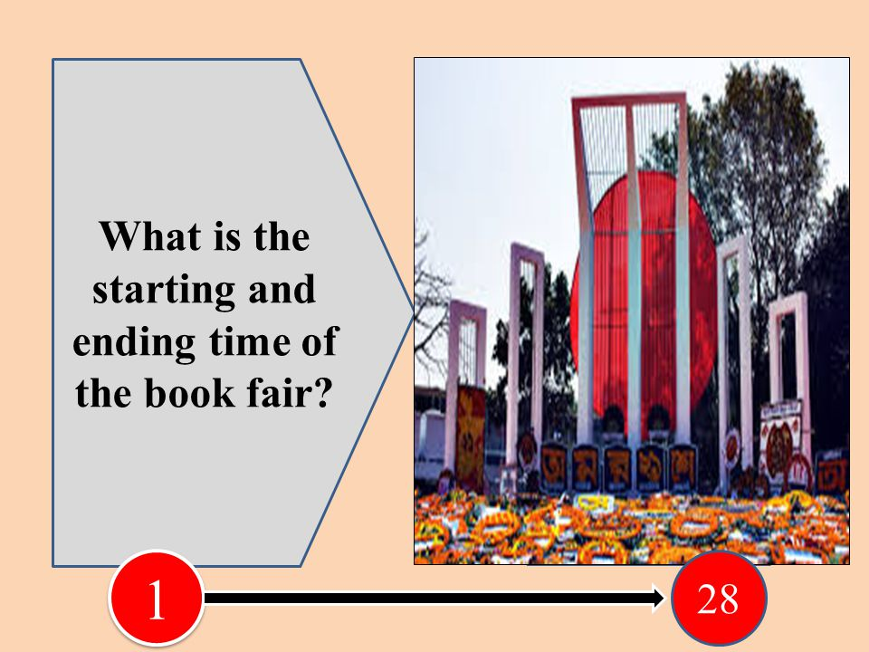 What is the starting and ending time of the book fair.