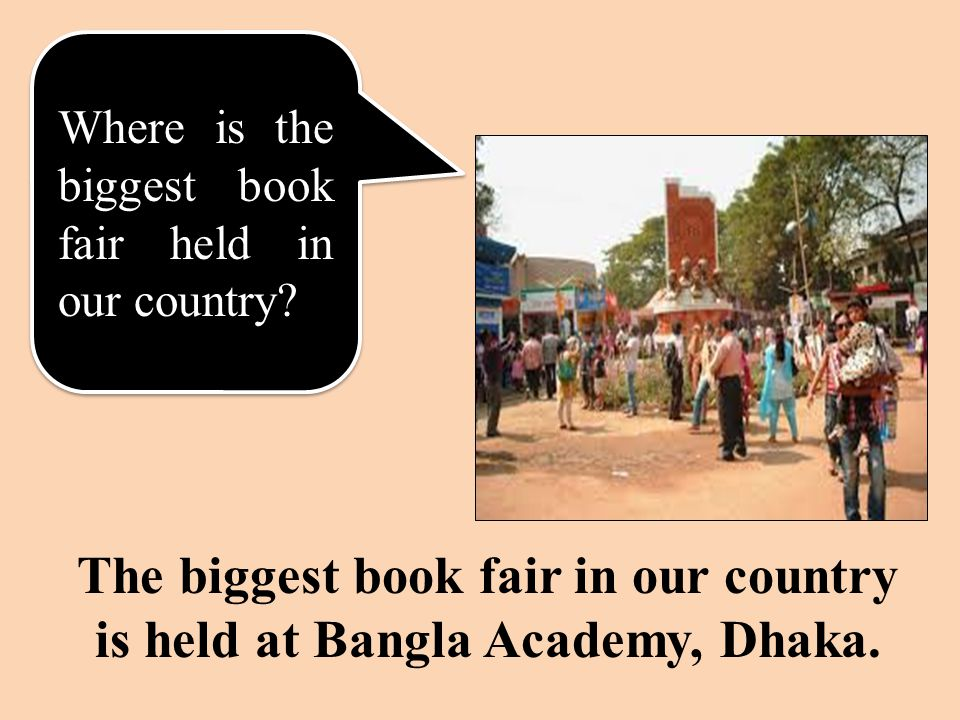 Where is the biggest book fair held in our country.