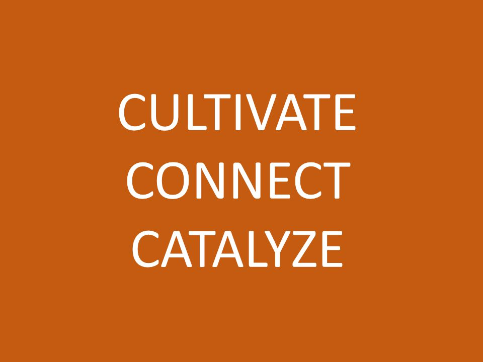 CULTIVATE CONNECT CATALYZE