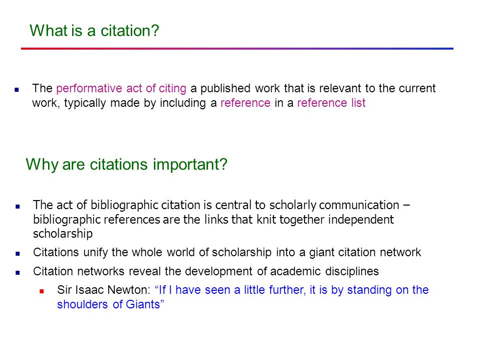 What is a citation.