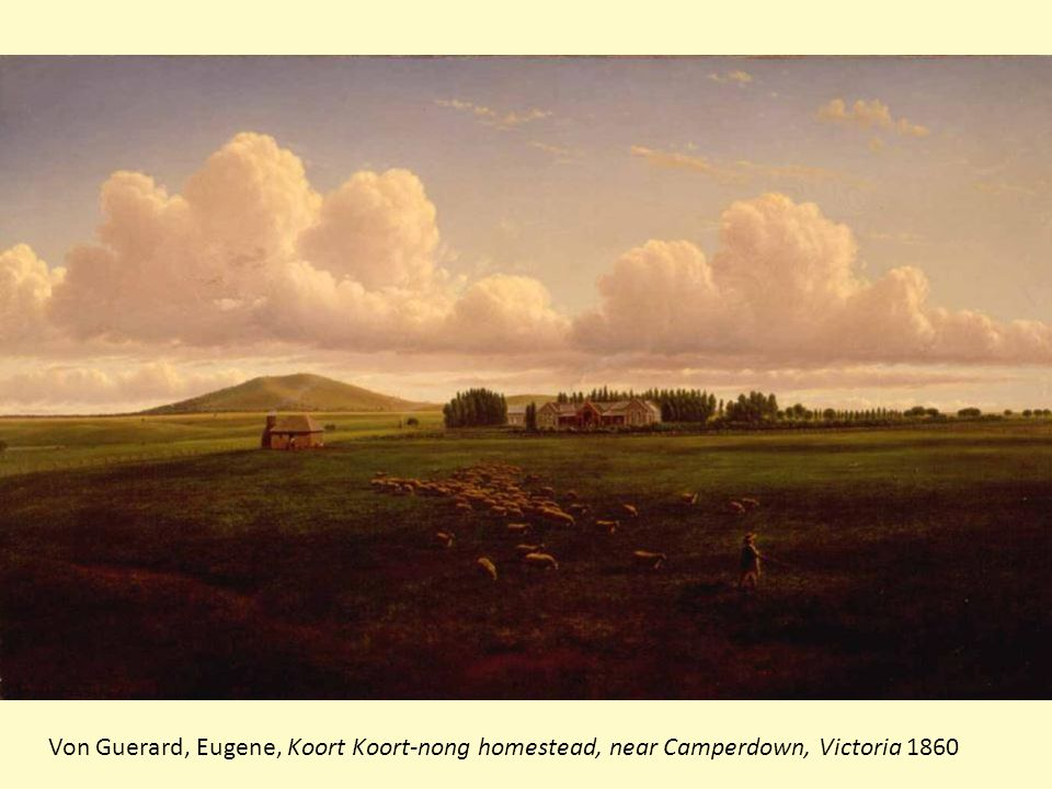 Von Guerard, Eugene, Koort Koort-nong homestead, near Camperdown, Victoria 1860