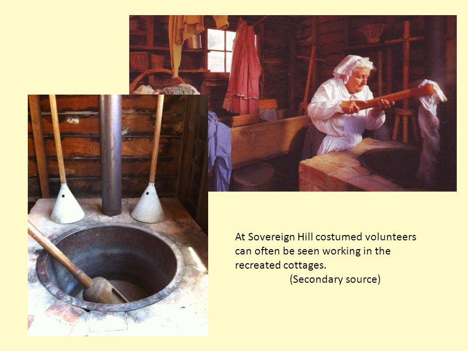 At Sovereign Hill costumed volunteers can often be seen working in the recreated cottages.
