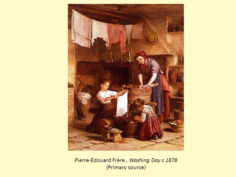 Pierre-Édouard Frère, Washing Day c 1878 (Primary source)