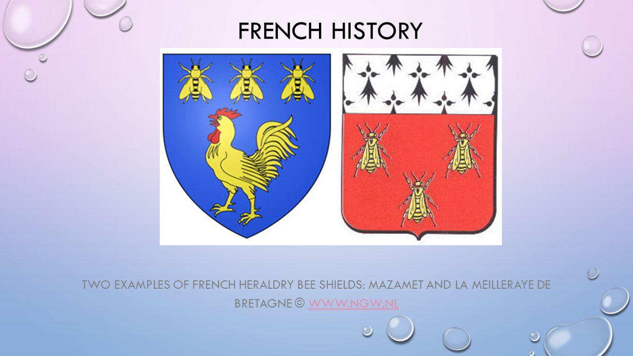 FRENCH HISTORY TWO EXAMPLES OF FRENCH HERALDRY BEE SHIELDS: MAZAMET AND LA MEILLERAYE DE BRETAGNE © WWW.NGW.NLWWW.NGW.NL