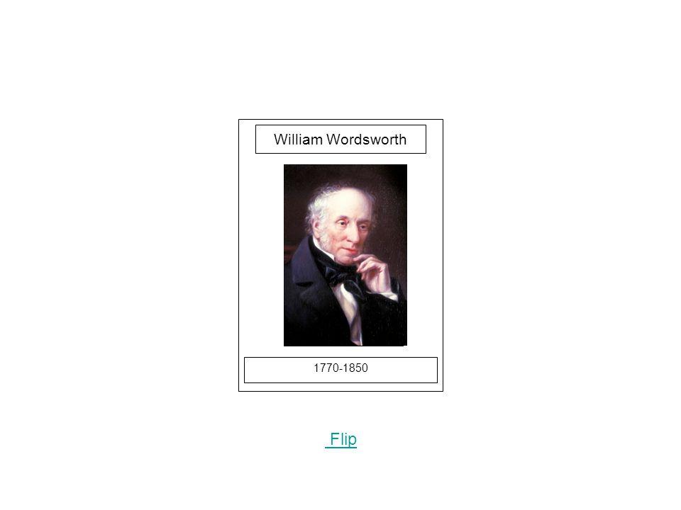 1770-1850 Flip William Wordsworth