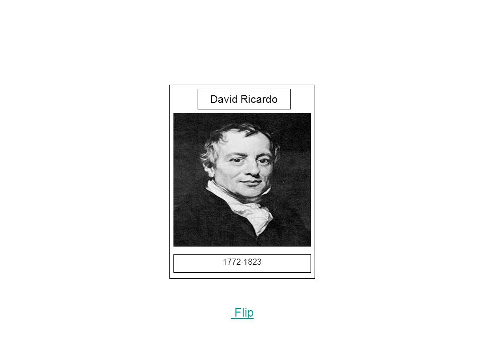 1772-1823 Picture Flip David Ricardo