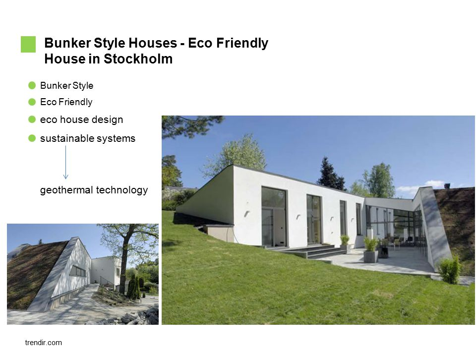 Bunker Style Eco Friendly Bunker Style Houses - Eco Friendly House in Stockholm eco house design sustainable systems geothermal technology trendir.com