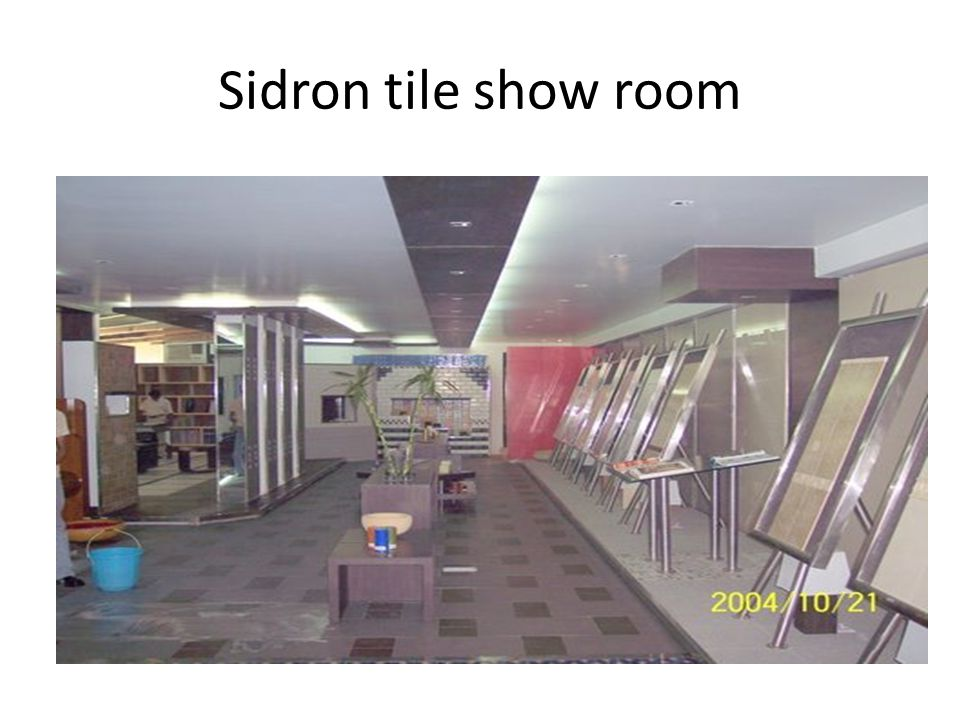 Sidron tile show room