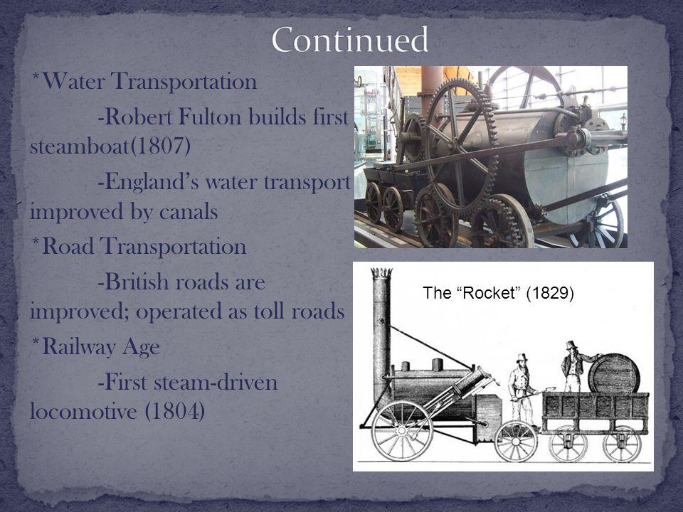 1).Railroads spur economic growth (Cheap transportation) 2).