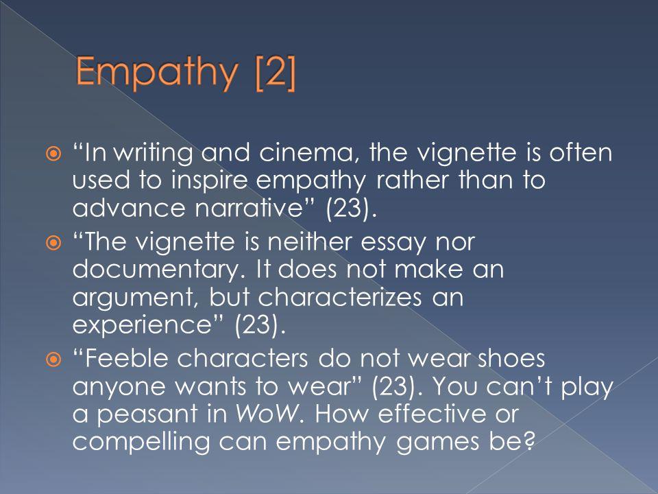  http://www.darfurisdying.com/ http://www.darfurisdying.com/  http://www.gamesforchange.org/play/h ush/ http://www.gamesforchange.org/play/h ush/  http://www.youtube.com/watch?v=hxm gr2fFAuI http://www.youtube.com/watch?v=hxm gr2fFAuI  Are there examples of non-empathy games having moments of empathy.