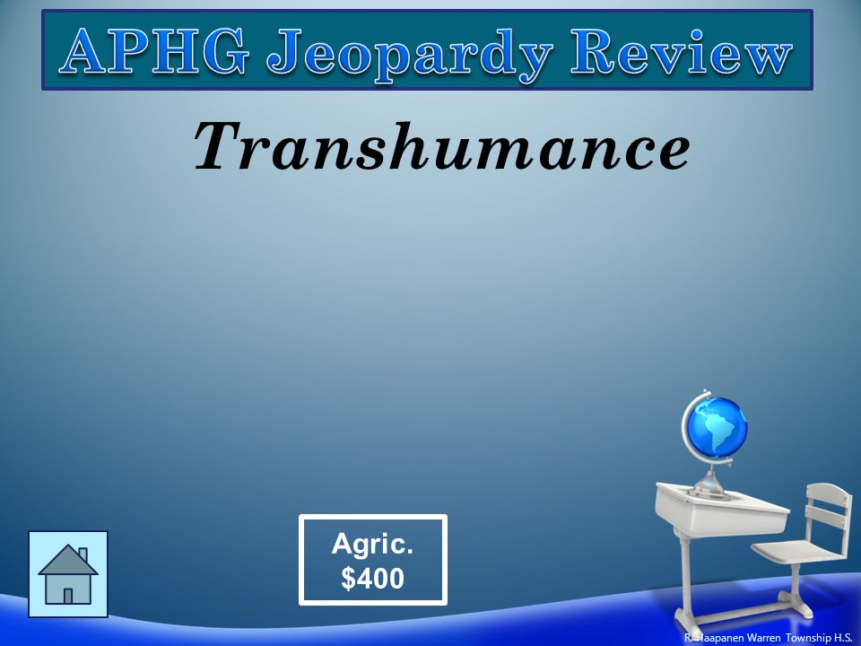 Transhumance Agric. $400 R. Haapanen Warren Township H.S.
