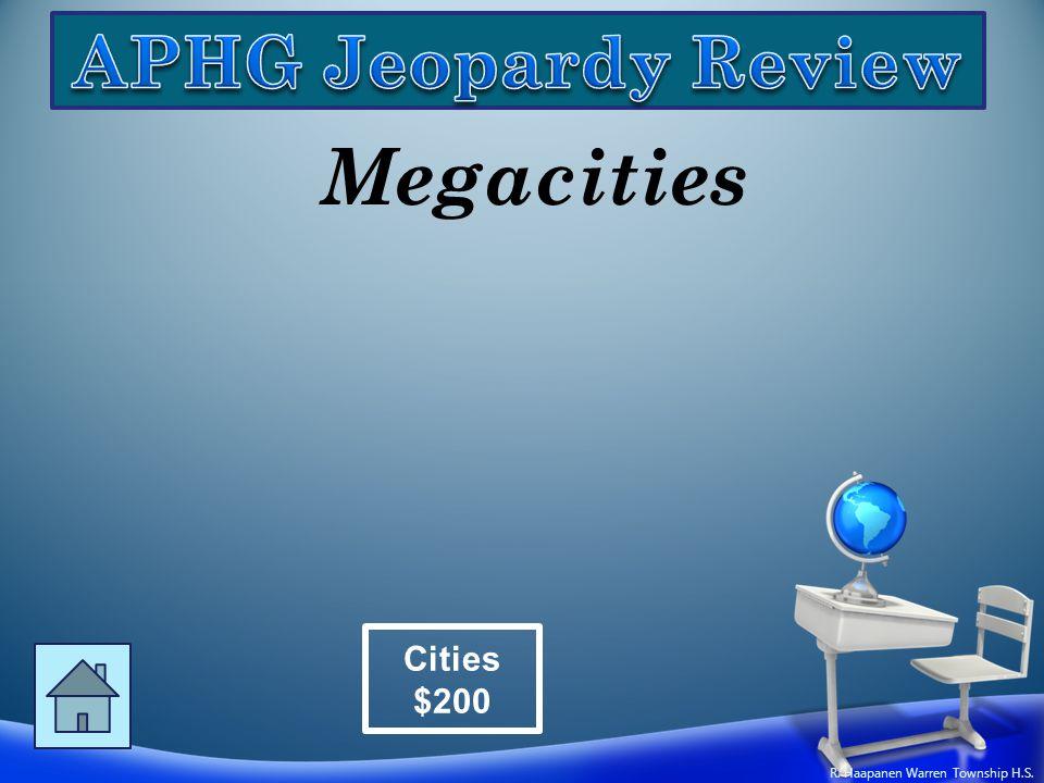 Megacities Cities $200 R. Haapanen Warren Township H.S.
