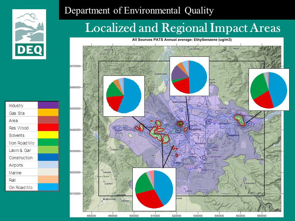 Department of Environmental Quality Localized and Regional Impact Areas
