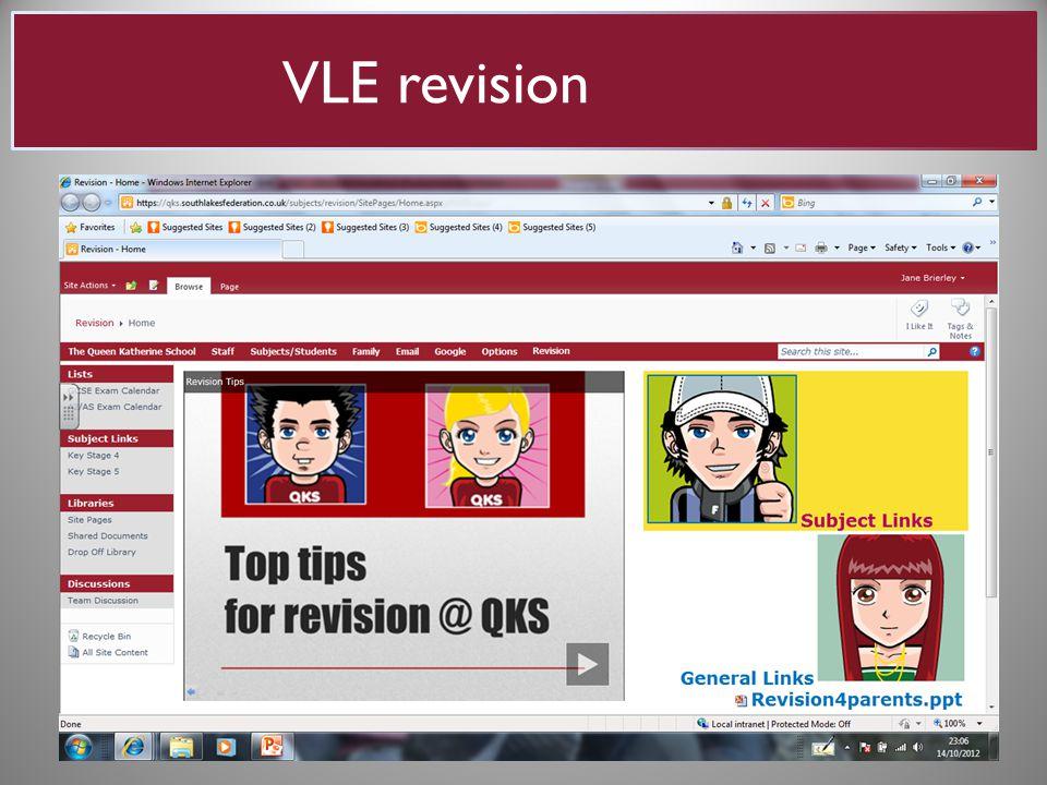VLE revision