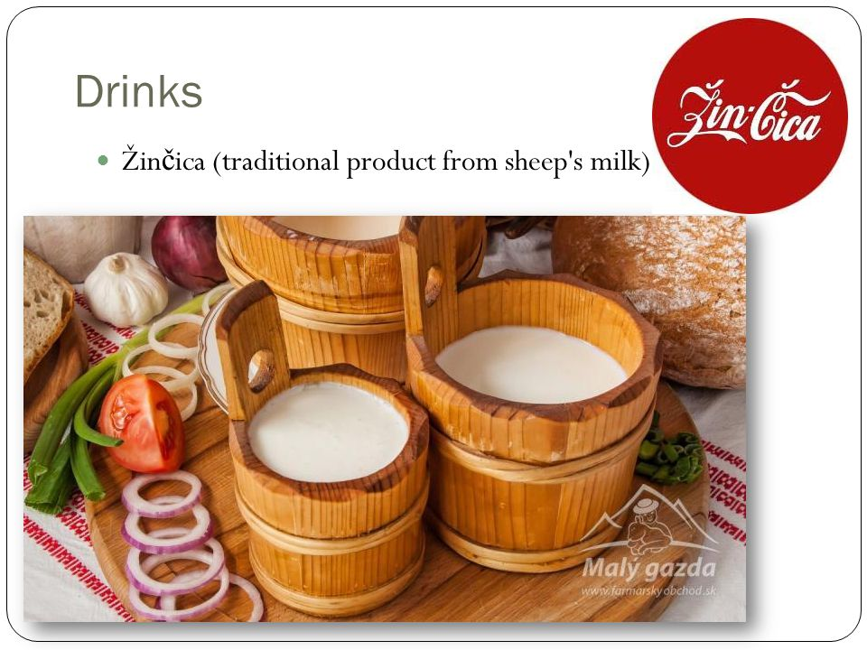 Drinks Žin č ica (traditional product from sheep s milk)
