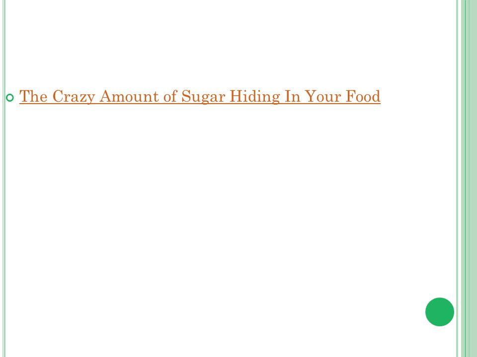 The Crazy Amount of Sugar Hiding In Your Food