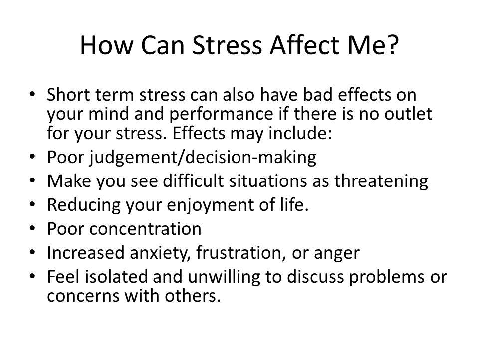 Short Term Stress Mental Effects