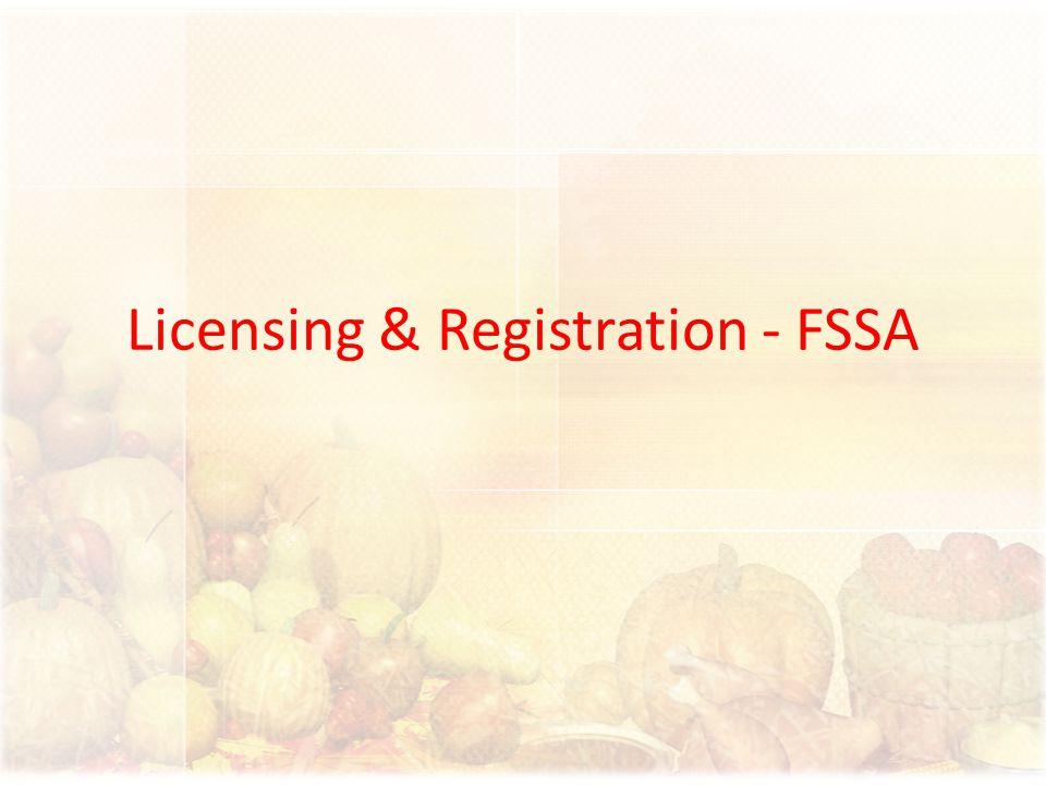 Licensing & Registration - FSSA