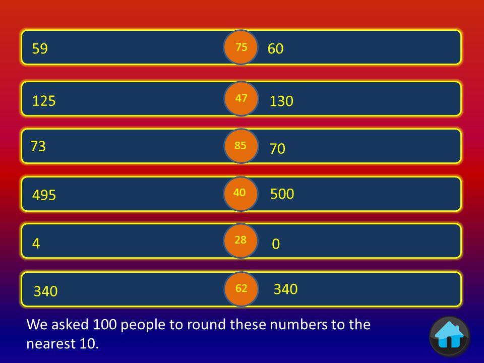 Rounding to nearest 10 Round up Rounding to nearest 1 Round down Rounding to nearest 100 Rounding to nearest 1000 Rounding