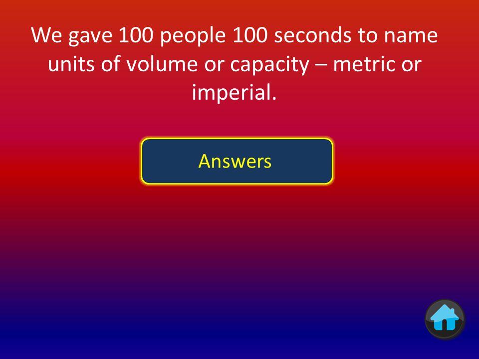 AnswerPoints kilogram85 gram76 tonne43 pound32 ounce12 stone15 hundredweight0 dram0 anything else correct 0