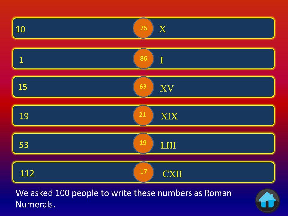 → Roman Numerals 1 Roman Numerals → Calculations → Roman Numerals 2 Calculations Roman Numerals