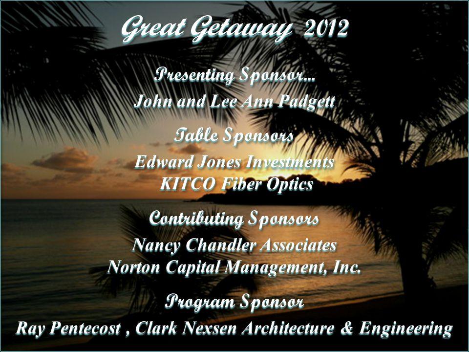 Great Getaway 2012 Presenting Sponsor...