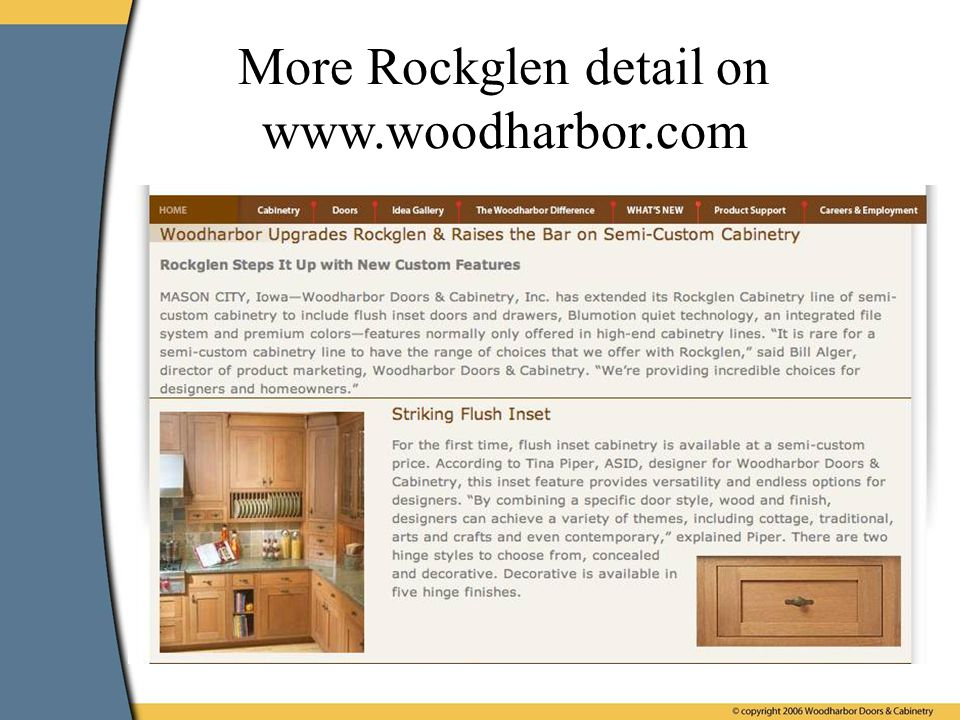 More Rockglen detail on www.woodharbor.com