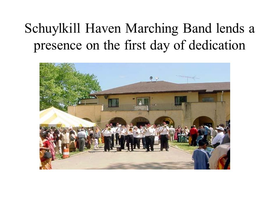 Schuylkill Haven Marching Band lends a presence on the first day of dedication