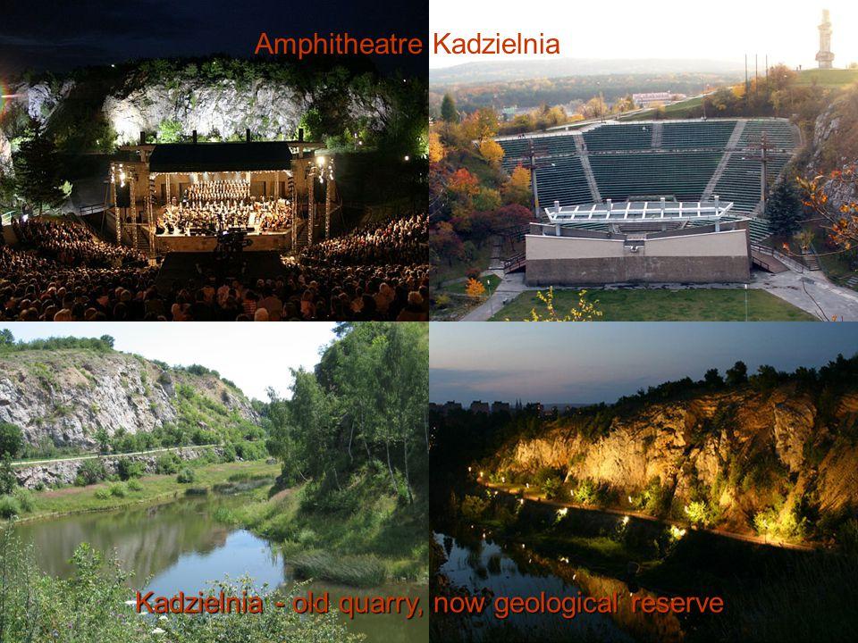 Kadzielnia - old quarry, now geological reserve Amphitheatre Kadzielnia